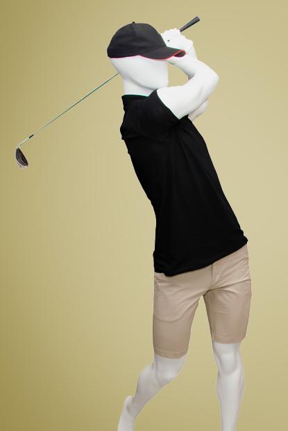 Maniquí hombre golf