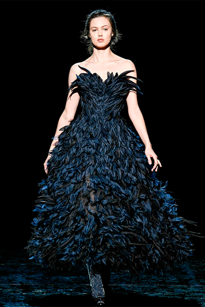 MarcJacobs vestido plumas
