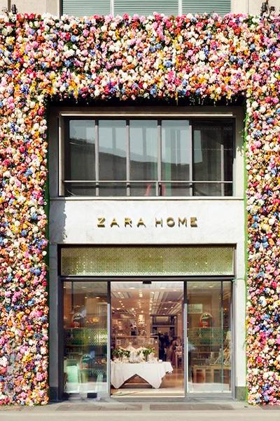 Fachada flores Zara Home