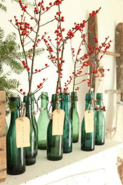 Bayas rojas deco Navidad