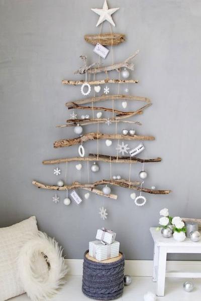Árbol Navidad con troncos