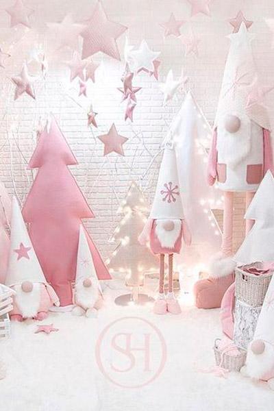 Escaparate Navidad rosa