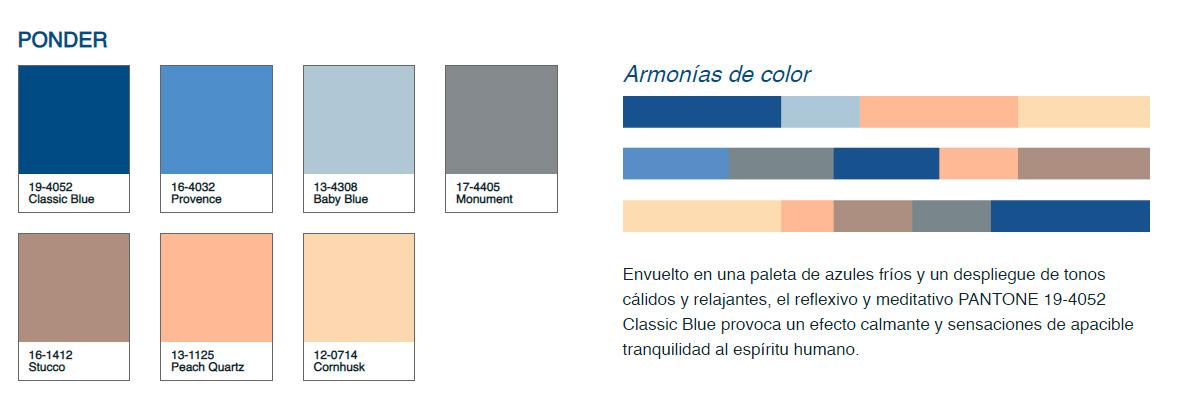 Paleta de Color Pantone 2020