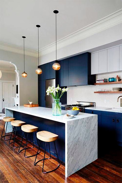 Pantone Classic Blue Cocina